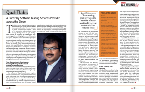 QualiTlabs featured in CIO Insider as Top 10 Recommended QA Service providers 2